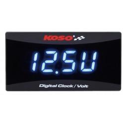KOSO Digitale klok met voltmeter