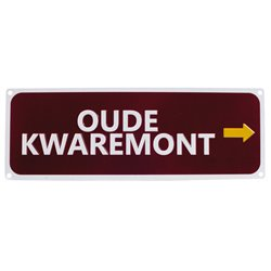 Oude Kwaremont Replica Road Sign