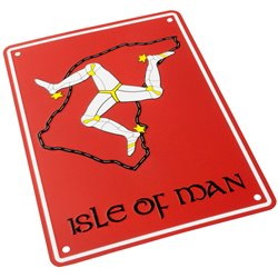 Bike It Aluminium Parking Sign - Isle Of Man