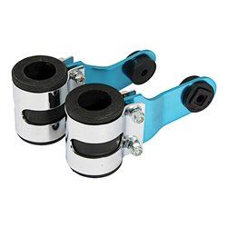 Bike It Blue Deluxe Headlight Brackets With 31mm Rubbers