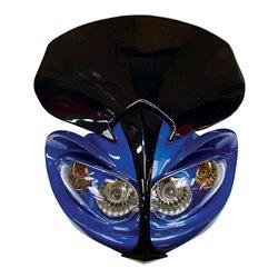 Universal Demon Fairing Headlight With Indicators Blue