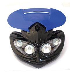 Universal Enduro Rage Headlight Unit Blue 12V 20W