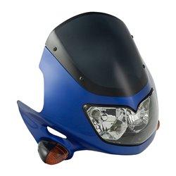 Universal Raptor Fairing Headlight With Indicators Blue 12V 25/25W