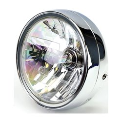 "Universal 7"" Chrome Headlight E-Marked Right Dip HS1 35/35W"