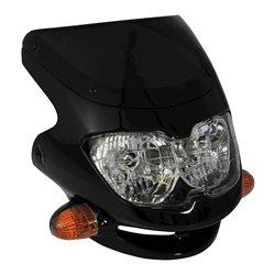 Universal Dash Screen Fairing Headlight Black
