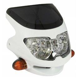 Universal Dash Screen Fairing Headlight White