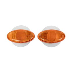 Bike It Oval Slim Fairing Indicators With Amber Lens