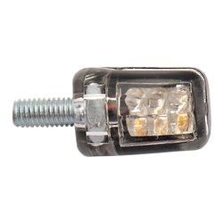 Bike It LED Atom Indicators With Chrome Body And Clear Lens
