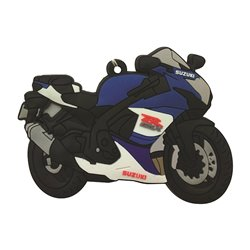 Bike It Suzuki GSXR600/750 16 Rubber Keyfob - 125