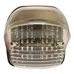 Bike It LED Rear Tail Light With Clear Lens And Integral Indicators - H025
