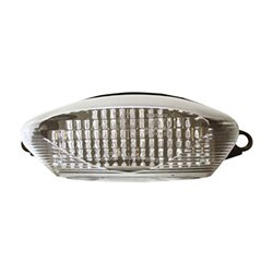 Bike It LED Rear Tail Light With Clear Lens And Integral Indicators - H044
