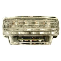 Bike It LED Rear Tail Light With Clear Lens And Integral Indicators - H077