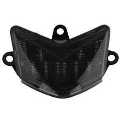Bike It LED Rear Tail Light With Cool Grey Lens - K170