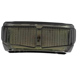 Bike It LED Rear Tail Light With Cool Grey Lens - Y178