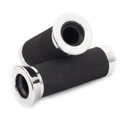 Handvatset foam/ chroomdop 25mm