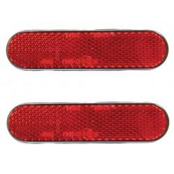 Reflectorset rood ovaal