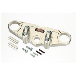 Superbike triple clamps FZR 1000 1987-88 zilver