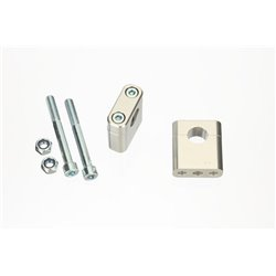 Superbike triple clamps GS 500 E 88-93 zilver
