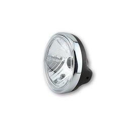 Koplamp 200mm Zwart/chroom (Prism glas) H4
