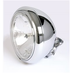 Koplamp 220mm HD-Style chroom (Prism glas) H4
