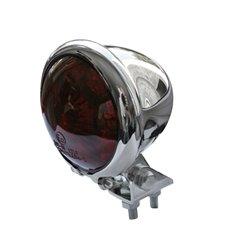 Achterlicht LED Bates Style chroom/rood