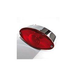 Achterlicht Cat-Eye chroom/rood