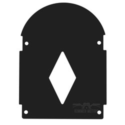 Sierplaat Luxe (window) zwart
