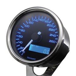 Snelheidsmeter Digitaal Velona chroom (260kmh)