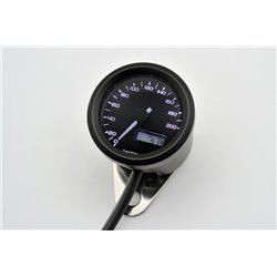 Snelheidsmeter Digitaal Velona chroom/zwart 200kmh