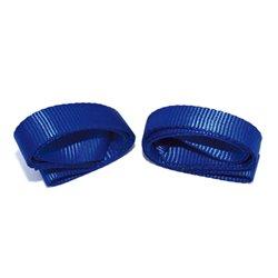 Riemen met dubbele lussen blauw