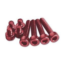 Aluminium schroeven set M5 rood geanodiseerd