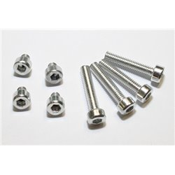 Aluminium schroeven set M4 zilver geanodiseerd