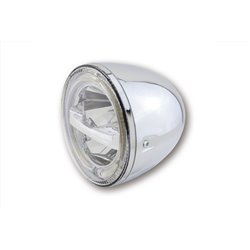 "Koplamp 5,75"" LED Circle chroom"