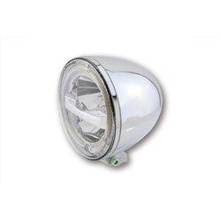 """Koplamp 5,75"""" LED Circle chroom (onderbevestiging)"""