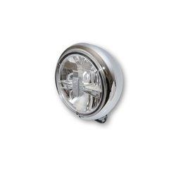 Koplamp 7� LED HD-Style chroom (achterbevestiging)