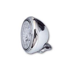 Koplamp 7� LED HD-Style type-1 chroom (achterbevestiging)