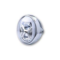 Koplamp 7� LED British-Style Type-8 chroom