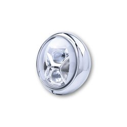 Koplamp 7� LED HD-Style Type-8 chroom (onderbevestiging)
