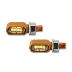 Knipperlichten met positielicht LED Little Bronx goud