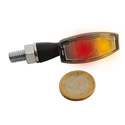 Knipperlichten/achterlicht/remlicht LED Blaze zwart/helder