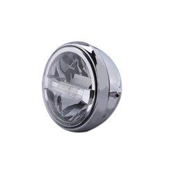 Koplamp 7� LED British Style Type-4 chroom