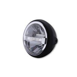 Koplamp 7� LED British Style Type-4 zwart