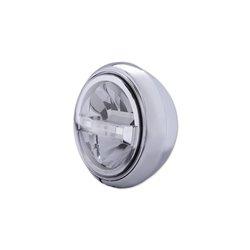 Koplamp 7� LED HD-Style Type-4 chroom (onderbevestiging)